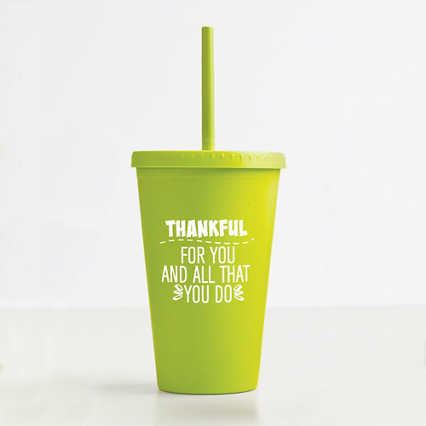 Eco-Smart Wheat Tumbler - Thankful for You