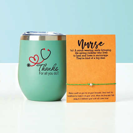 Wine Down Tumbler & Wishlet - Thanks