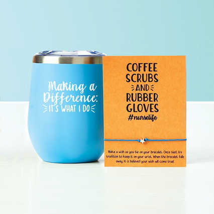 Wine Down Tumbler & Wishlet - Making a Difference