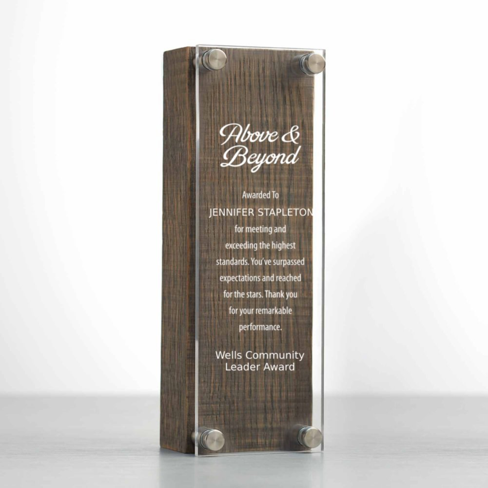 View larger image of Rustic Praise Wood and Acrylic Trophy Tower