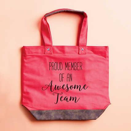 Uptown Vegan Leather Tote Bag - Proud Member