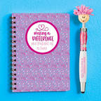 View larger image of Goofy Gal Mop Topper Pen & Mini Notebook Set - Making a Difference