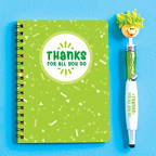 View larger image of Goofy Gal Mop Topper Pen & Mini Notebook Set - Thanks