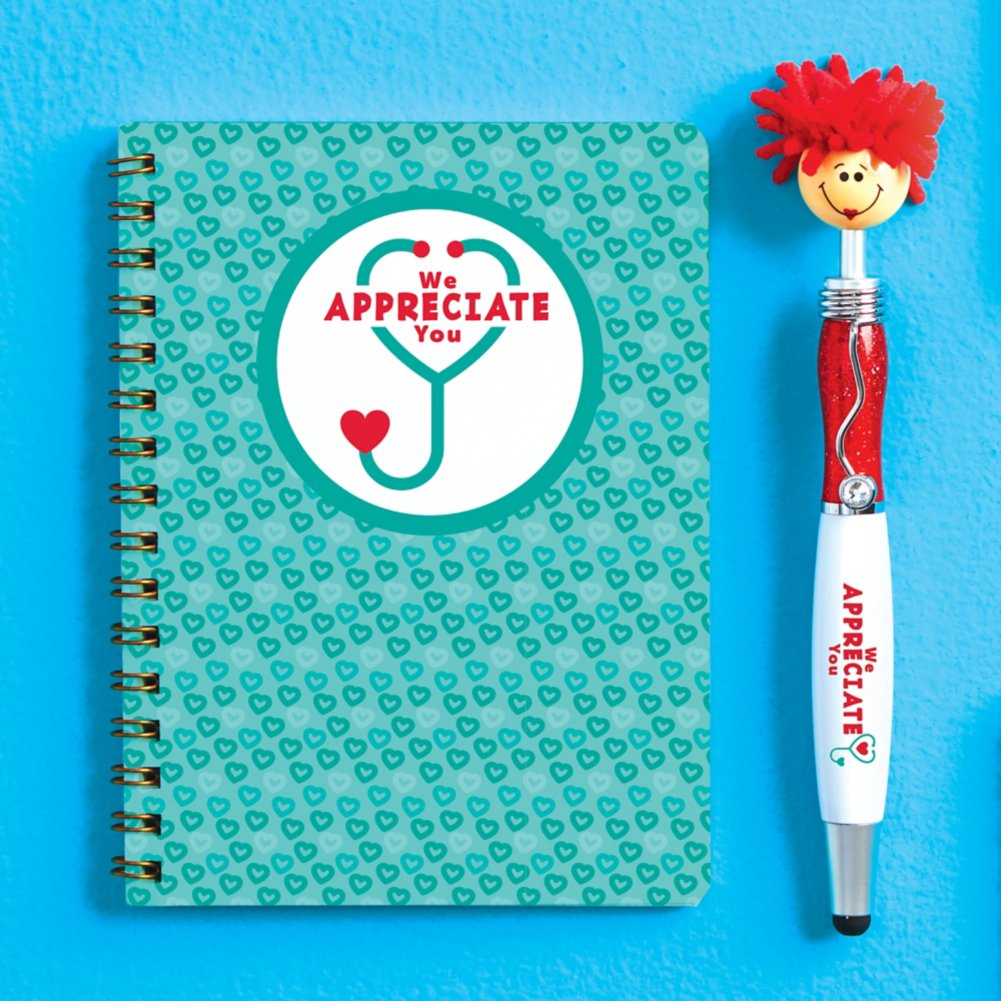 View larger image of Goofy Gal Mop Topper Pen & Mini Notebook Set - We Appreciate You