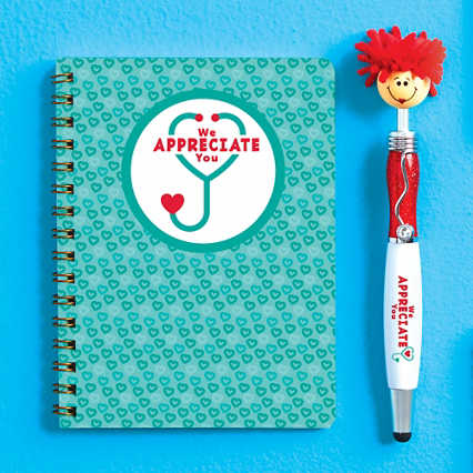 Goofy Gal Mop Topper Pen & Mini Notbook Set - We Appreciate You