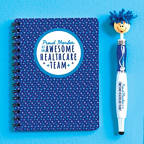 View larger image of Goofy Gal Mop Topper Pen & Mini Notebook Set - Awesome Healthcare Team