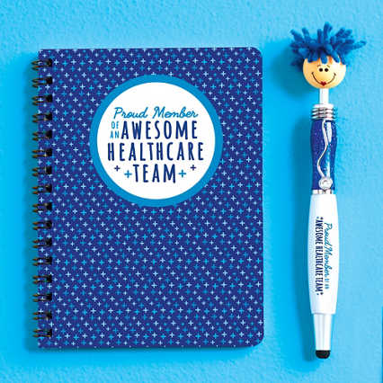 Goofy Gal Mop Topper Pen & Mini Notebook Set - Awesome Healthcare Team
