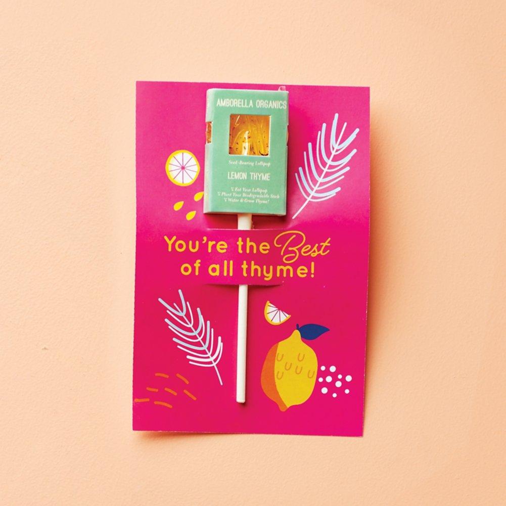 View larger image of Amborella Organics Lollipop Greeting Card - Lemon Thyme