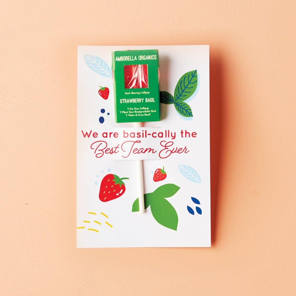 View larger image of Amborella Organics Lollipop Greeting Card - Strawberry Basil