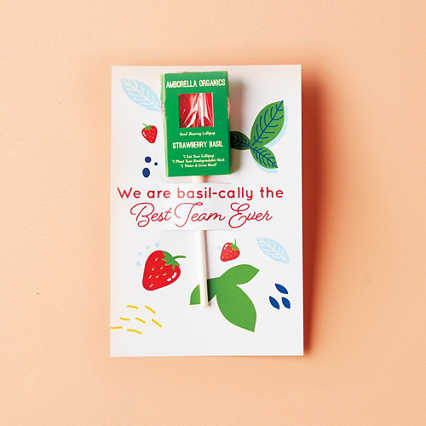 Amborella Organics Lollipop Greeting Card - Strawberry Basil