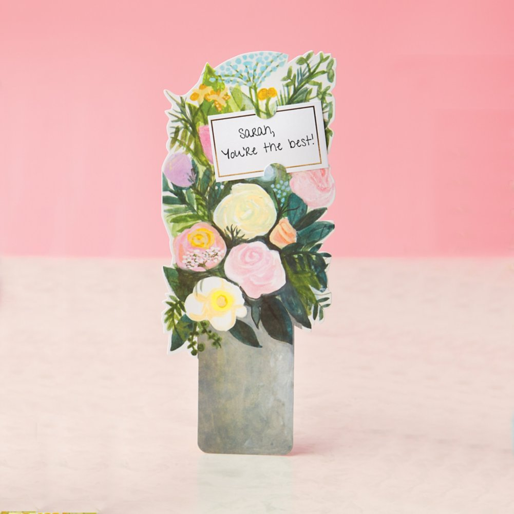 View larger image of Bouquet of Blooms Pop-Up Greeting Card - Rose