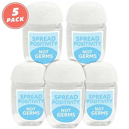 Positive Pocket Hand Sanitizer 5-Pack: Spread Positivity, Not Germs