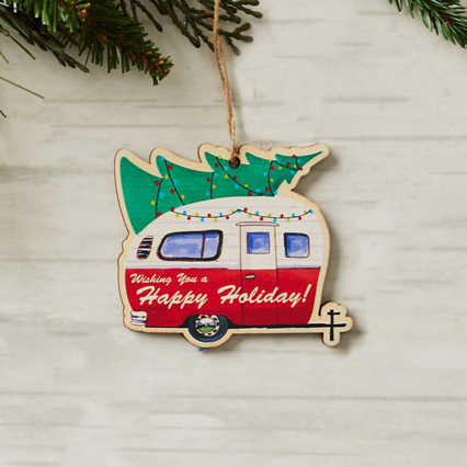 Classic Wooden Ornament - Holiday Camper