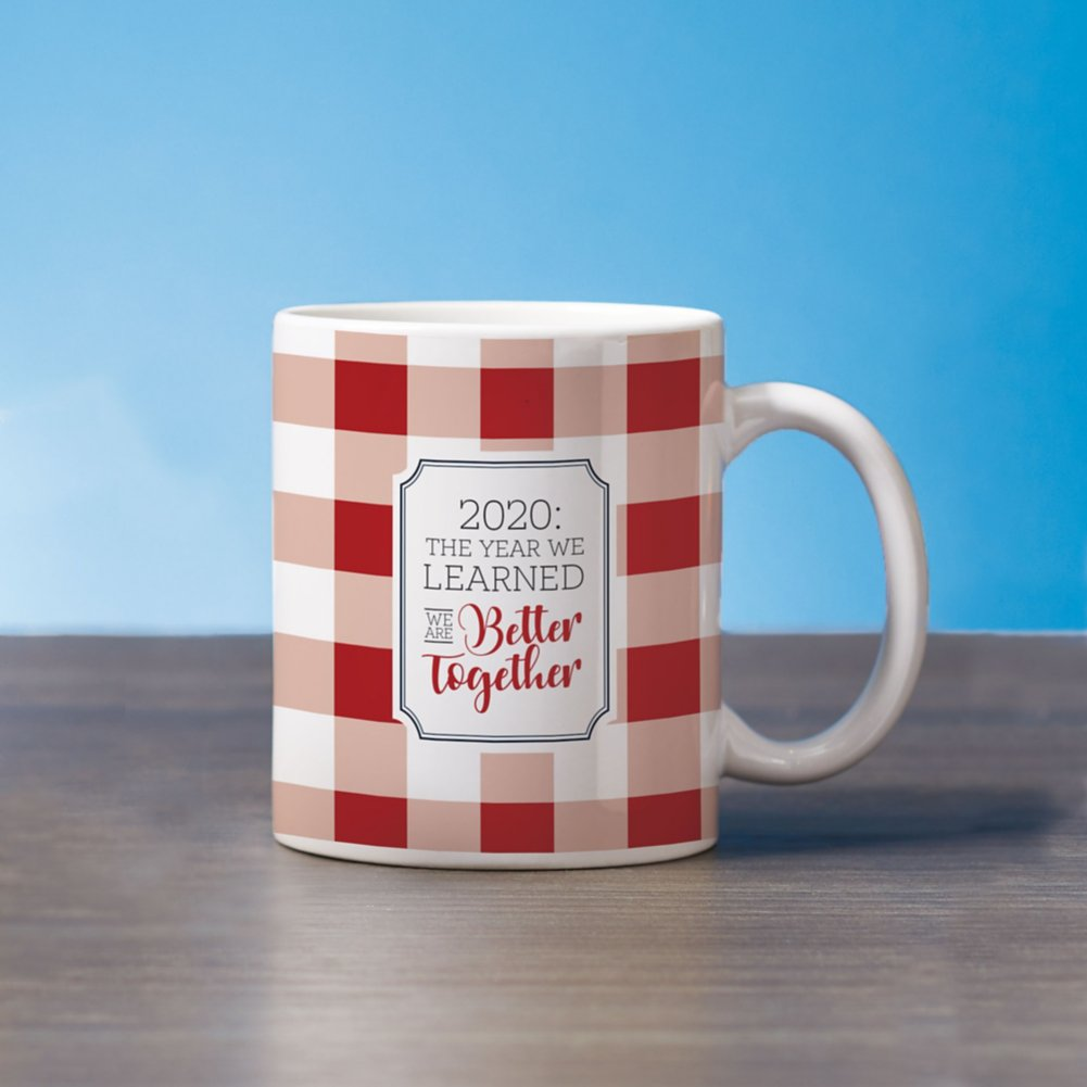 View larger image of Classic Buffalo Check Mug - 2020 The Year We Learned We are Better Together