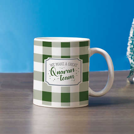 Classic Buffalo Check Mug - We Make a Great Quaran-Team