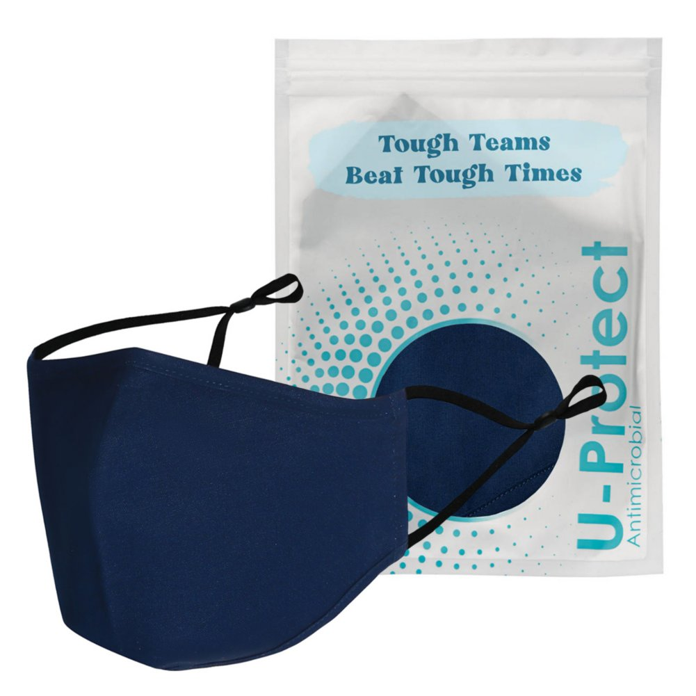 View larger image of Anti-Microbial Face Mask in Pouch - Tough Teams