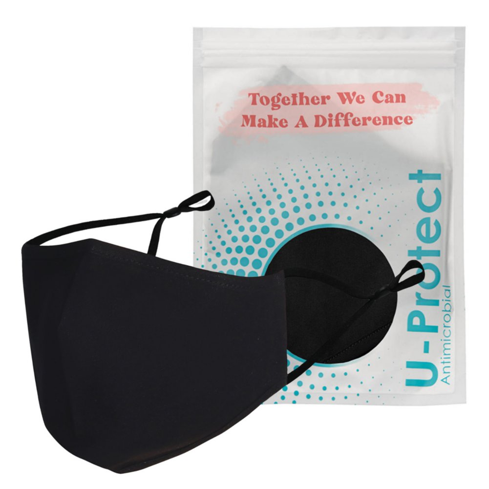 View larger image of Anti-Microbial Face Mask in Pouch - Together We Can