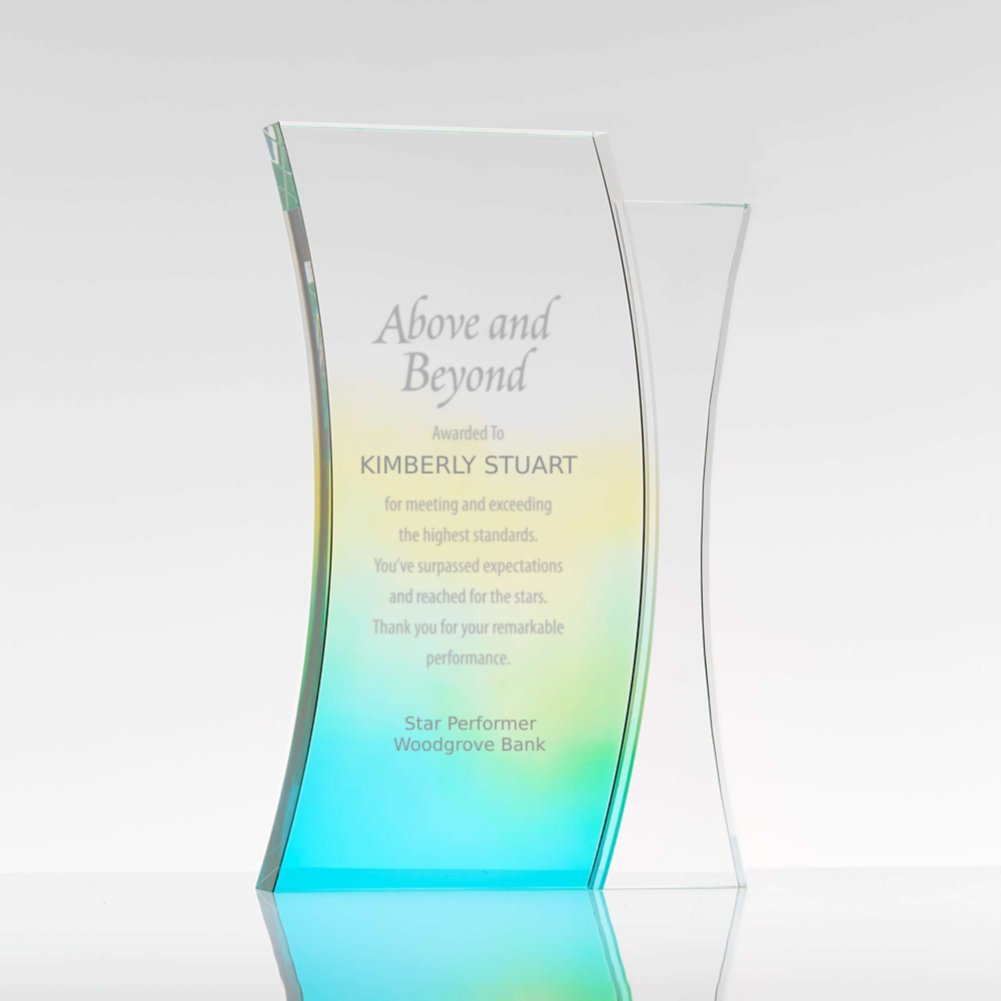 View larger image of Colorful Gradient Trophy Rectangle