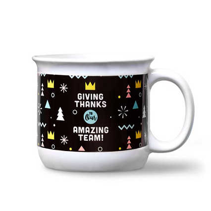 Vivid Color Camper Mug - Giving Thanks to Our Amazing Team!