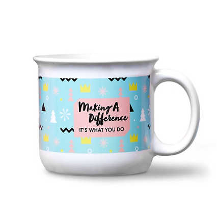 Vivid Color Camper Mug - Making a Difference It's What I Do