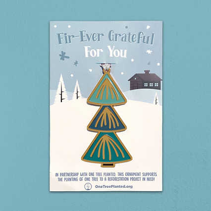 Giving Tree Ornament - Fir-Ever Grateful for You