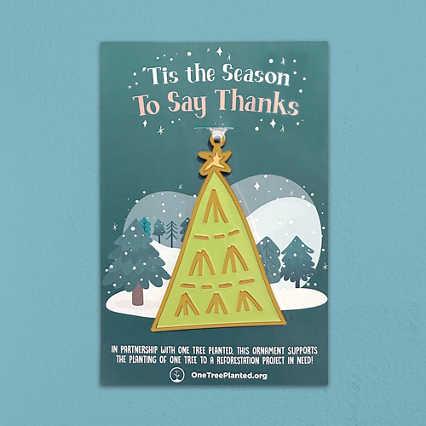 Giving Tree Ornament - 'Tis the Season to Say Thanks