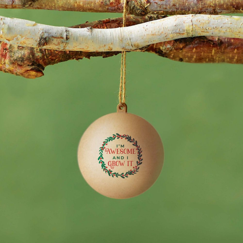 View larger image of Bloom Where You're Planted Ornament - I'm Awesome