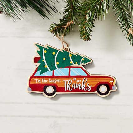 Classic Wooden Ornament - 'Tis the Season to Say Thanks