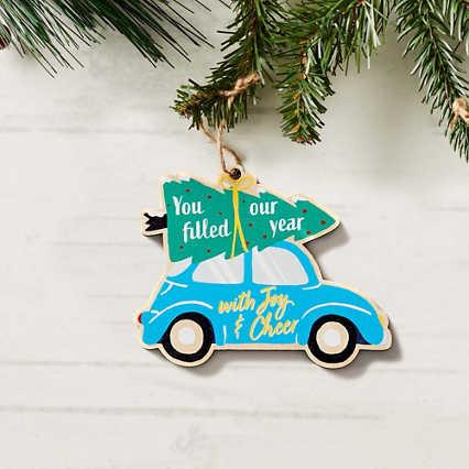 Classic Wooden Ornament - Joy & Cheer