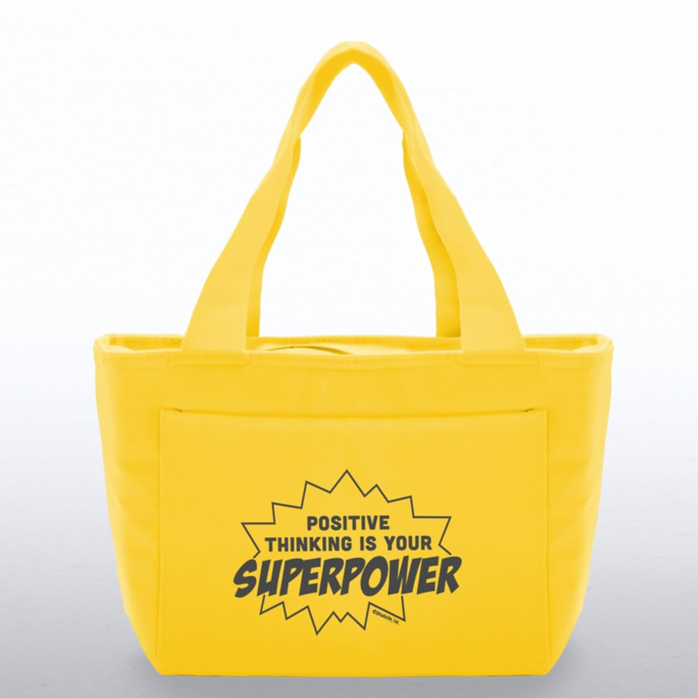 View larger image of Color Pop Value Cooler Tote - Positive Thinking