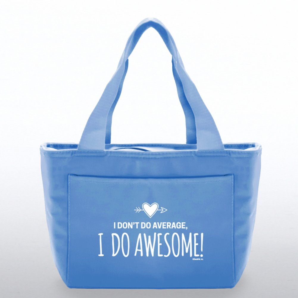 View larger image of Color Pop Value Cooler Tote - I Do Awesome! - Blue