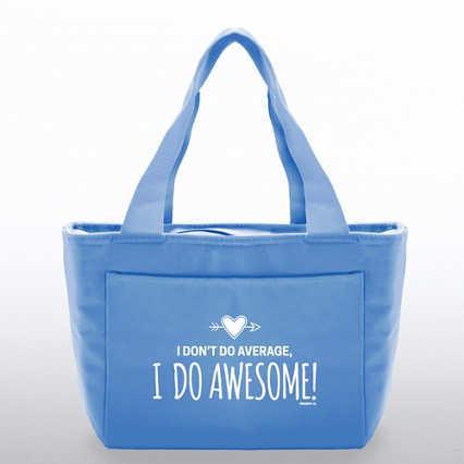 Color Pop Value Cooler Tote - I Do Awesome! - Blue
