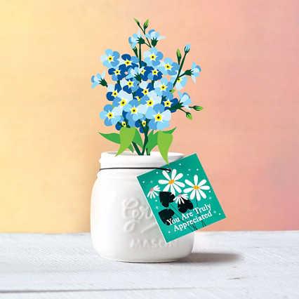 Petite Mason Jar Planter - You Are Truly Appreciated