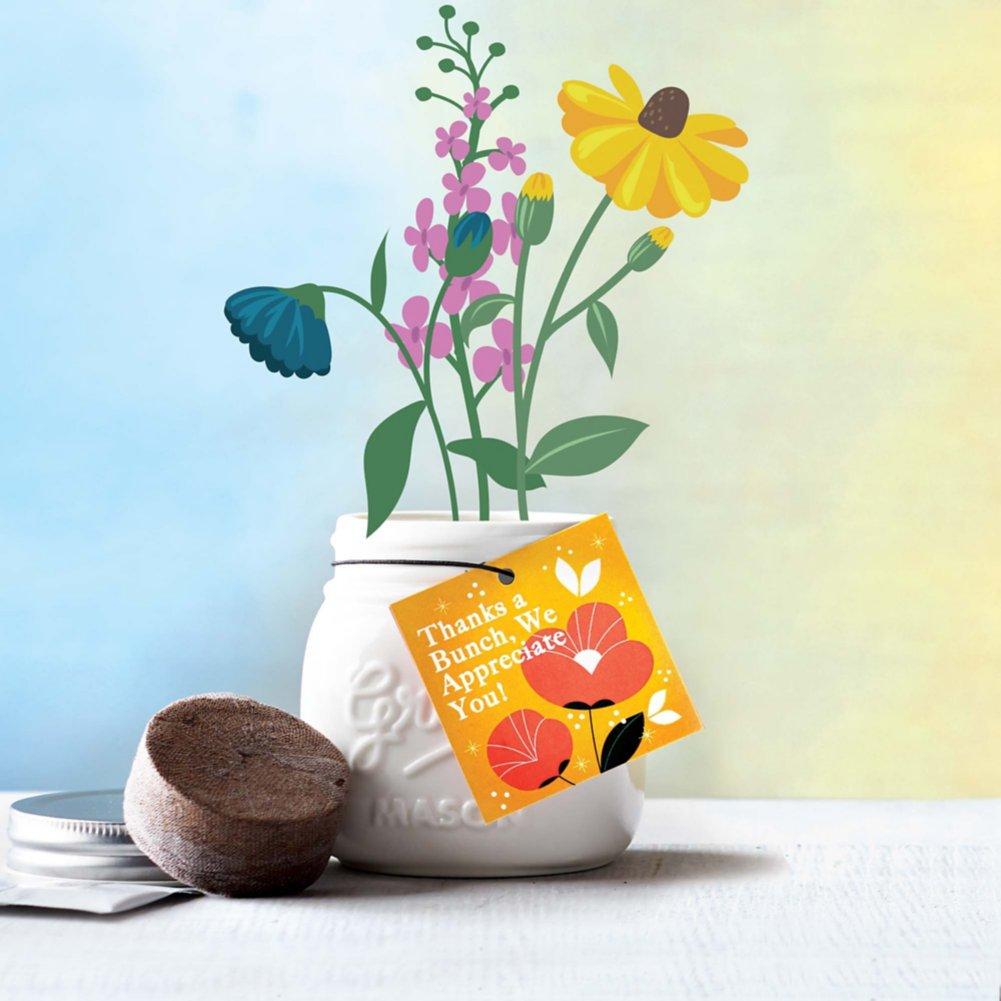 View larger image of Petite Mason Jar Planter - Thanks a Bunch We Appreciate You