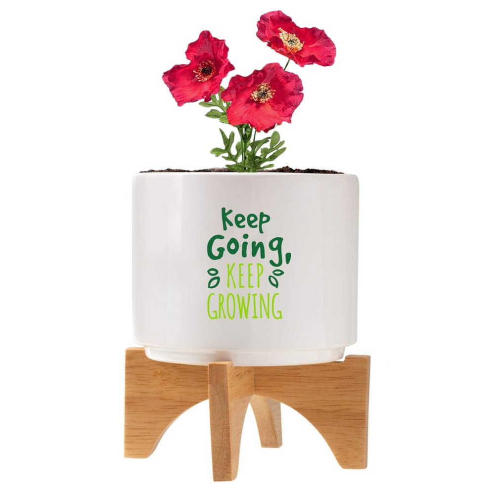 View larger image of Mod Vibes Ceramic Planter Kit - Keep Going Keep Growing