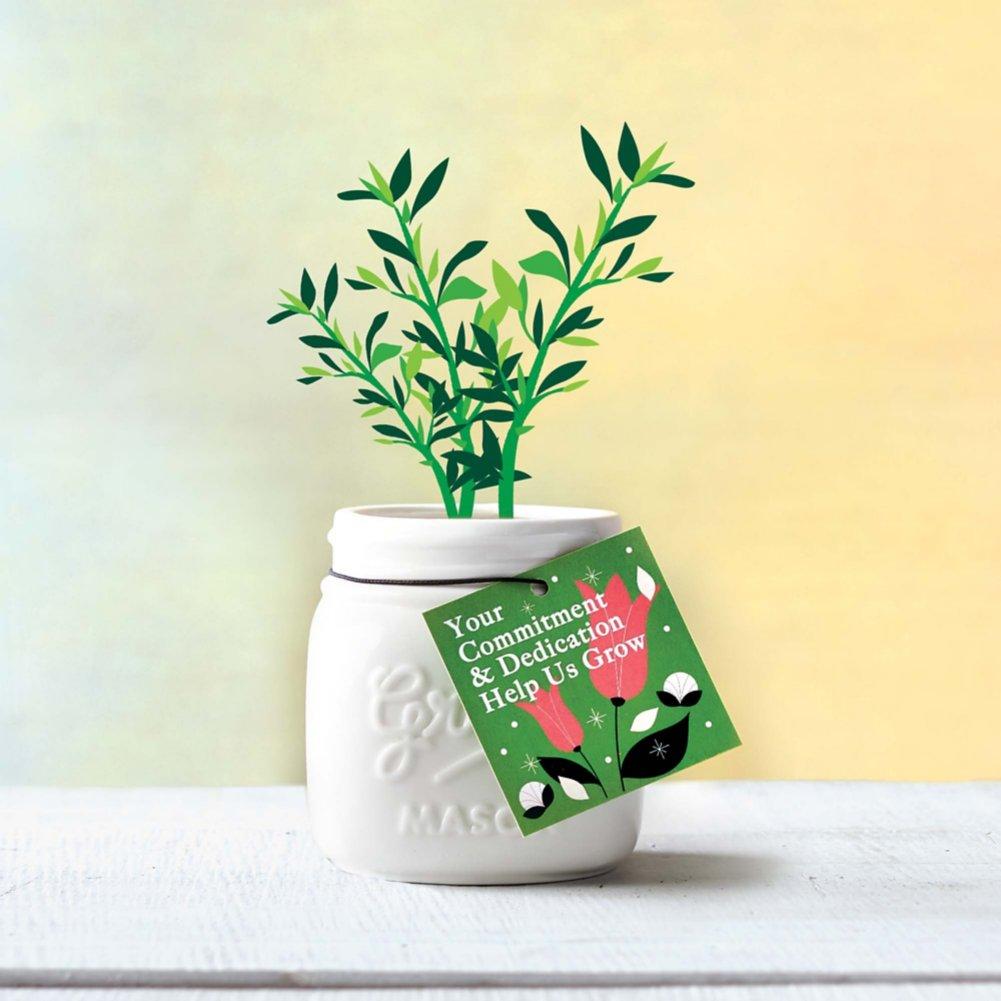 View larger image of Petite Mason Jar Planter - Help Us Grow