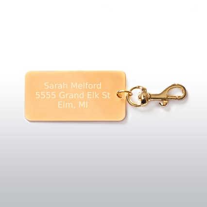 Executive Luggage Tag - Gold