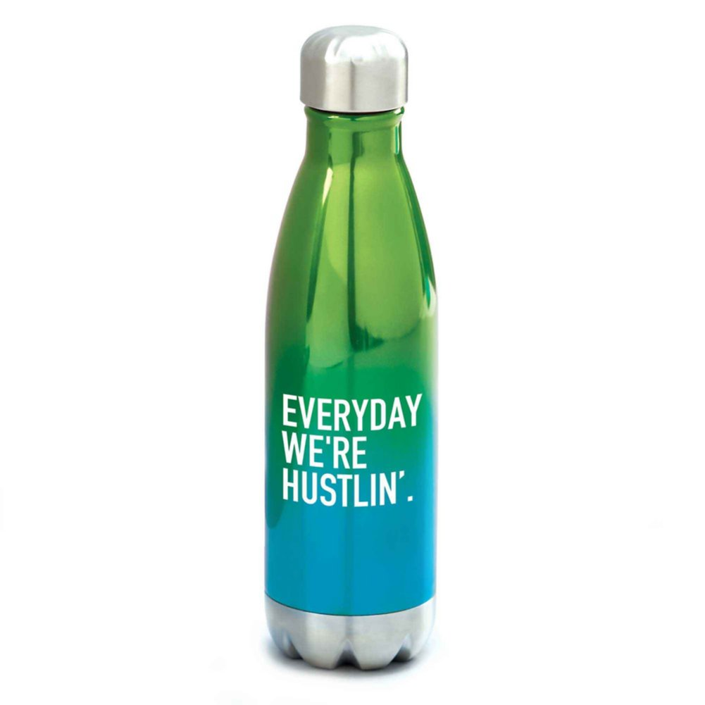 View larger image of Ombre Bowie Water Bottle - Everyday We're Hustlin'