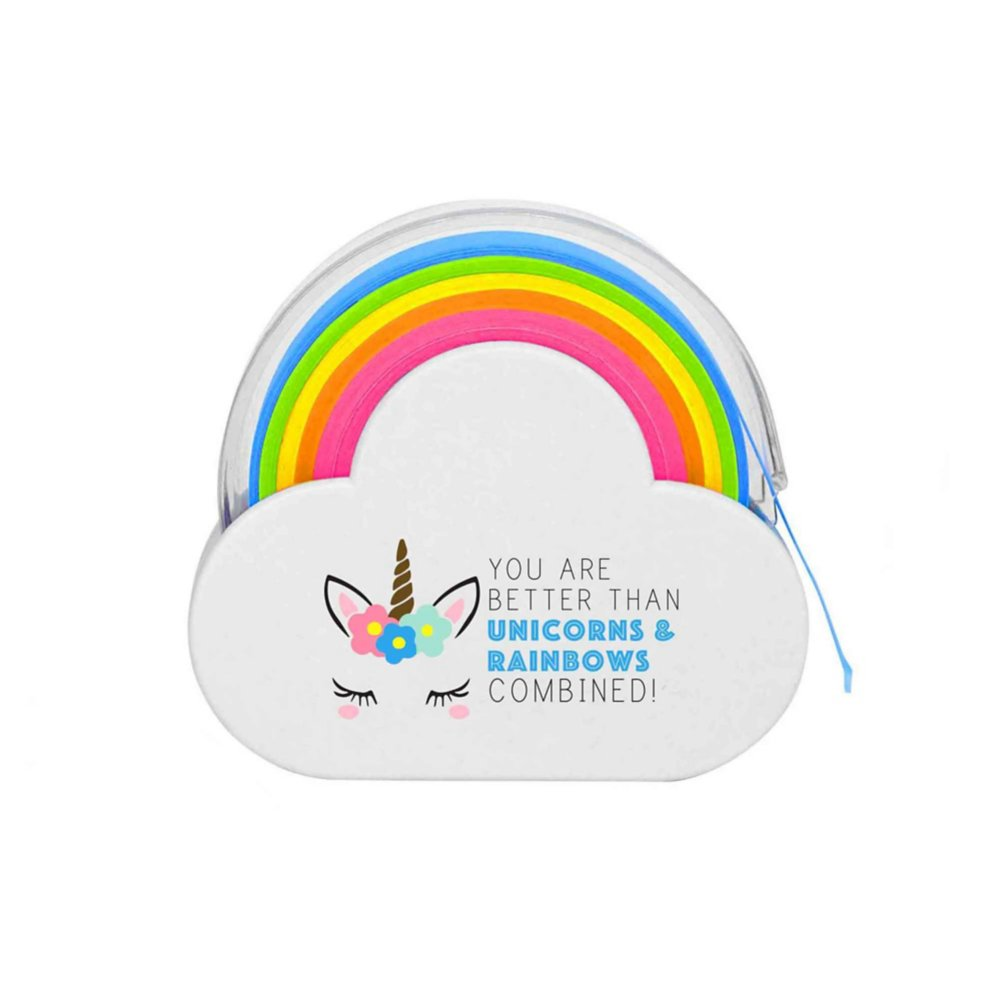 View larger image of Rainbow Roll Memo Tape - Unicorns & Rainbows