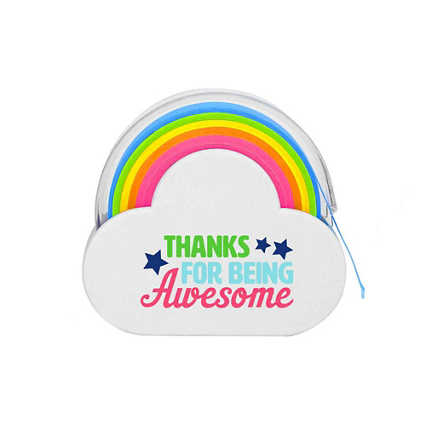 Rainbow Roll Memo Tape - Thanks For Being Awesome