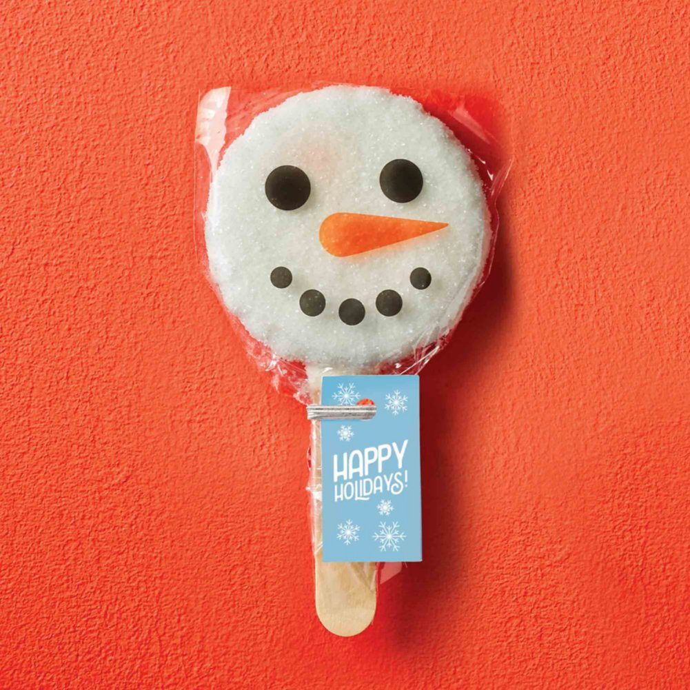 View larger image of Cookie Pops - Snowman Happy Holidays