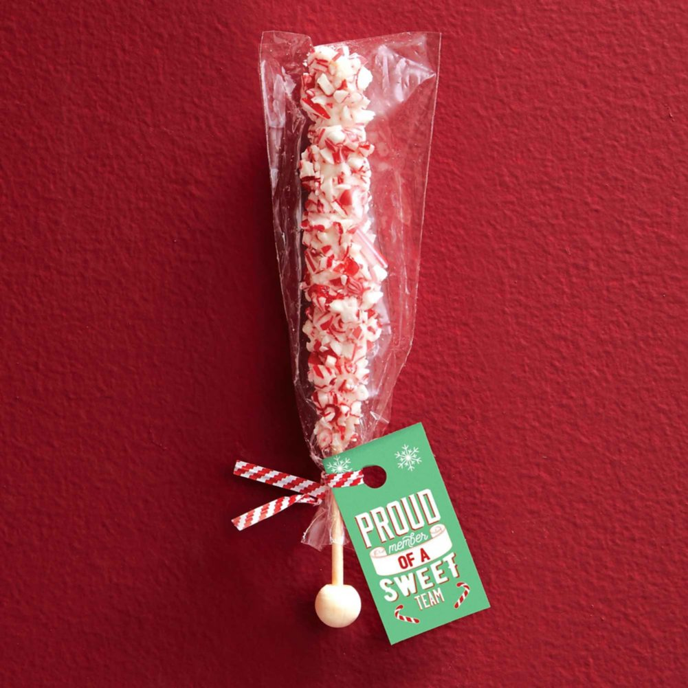 View larger image of Gourmet Chocolate Stir Stick - White Chocolate Peppermint
