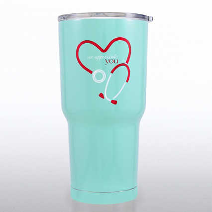 Big Sip Stainless Steel Tumbler - Stethoscope: We Appreciate