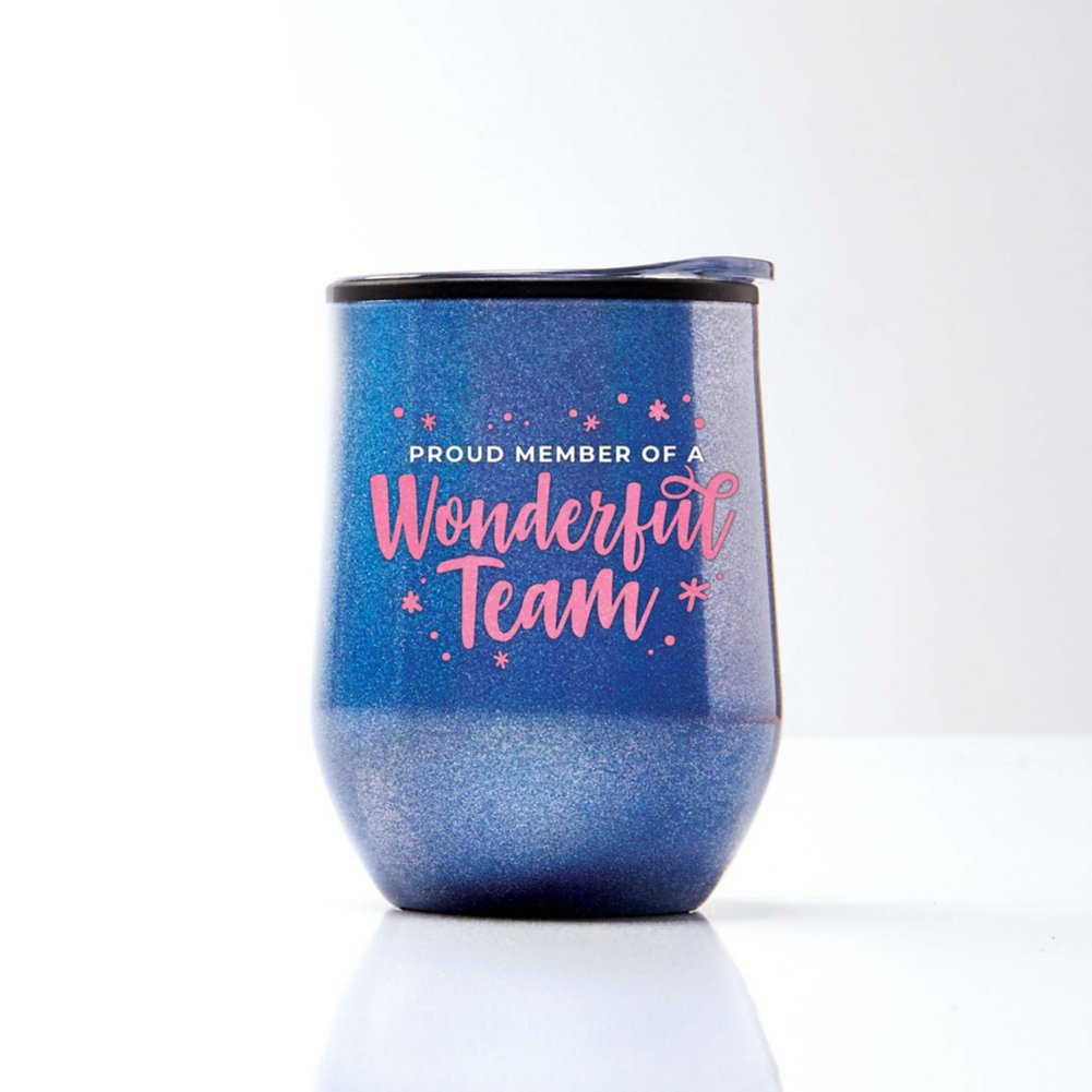 View larger image of Shimmering Wine Tumbler - Proud Member of a Wonderful Team