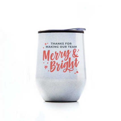 Shimmering Wine Tumbler - Merry & Bright