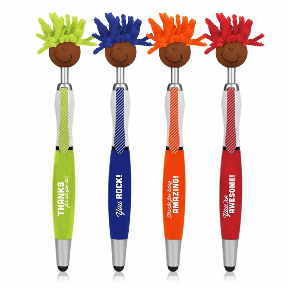 View larger image of Goofy Screen Cleaner Stylus Pen Pack - Multicultural