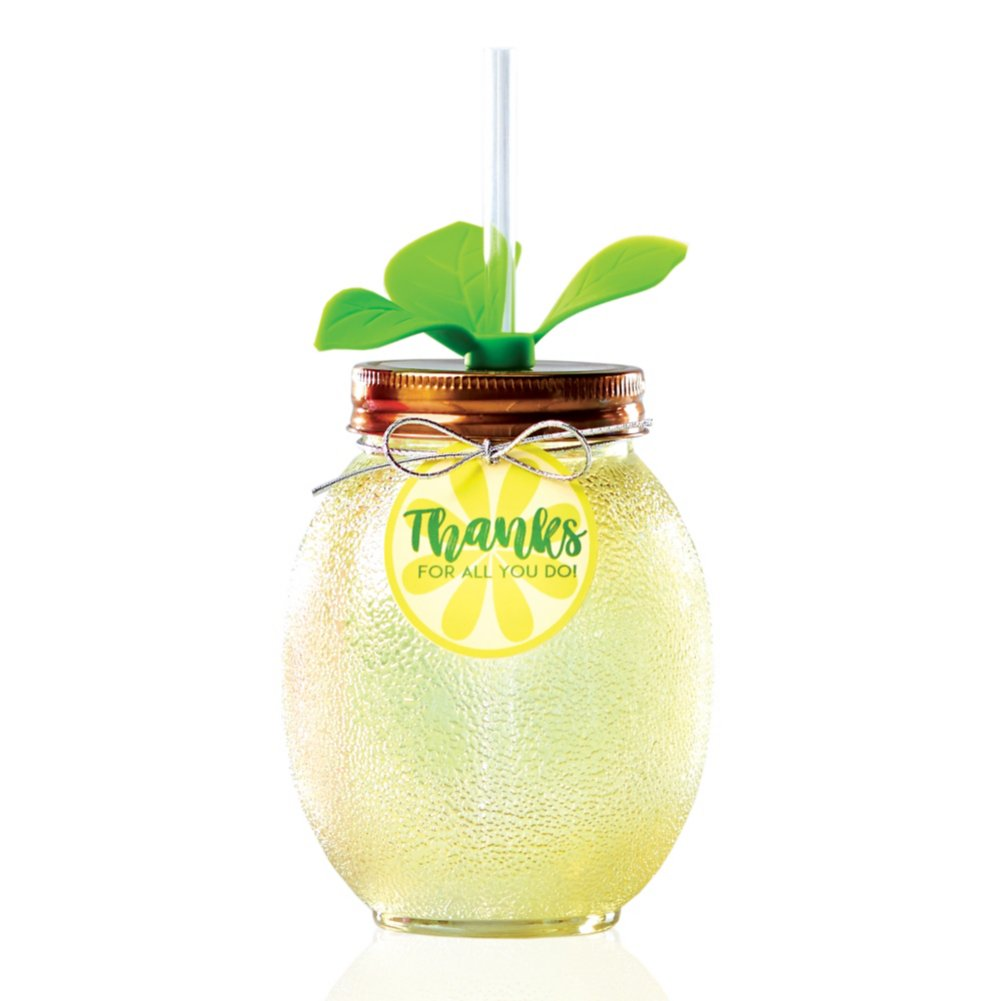 Shimmering Lemon Tumbler - Thanks for All You Do!