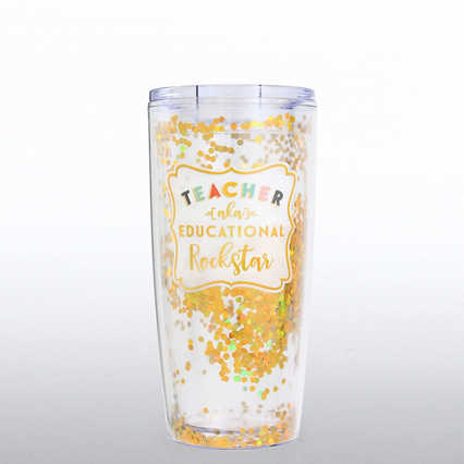 Confetti Travel Mug - Teacher AKA Educational Rockstar