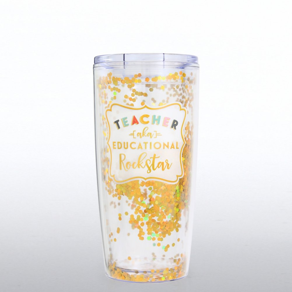 View larger image of Confetti Travel Mug - Teacher AKA Educational Rockstar