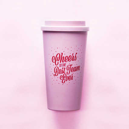 Perfectly Pastel Wheat Tumbler - Best Team Ever